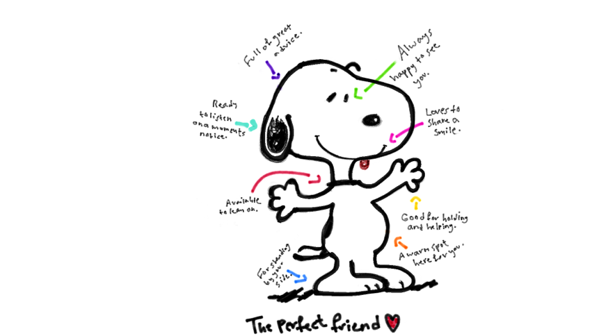 valentines day quotes free - Snoopy doodle