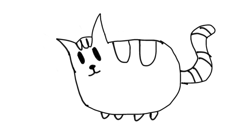 i tried to draw a better pusheen cat tell me what i should draw next