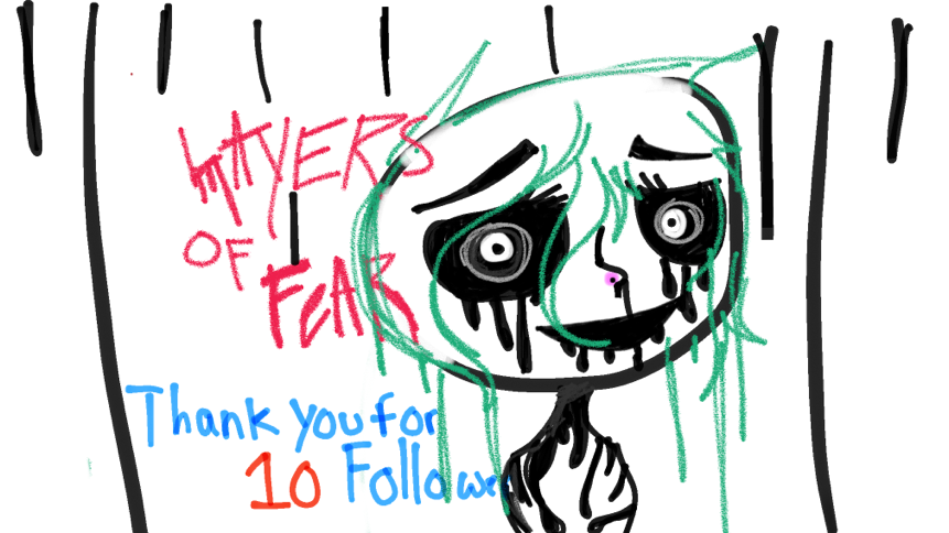Wassup everyone thank you so much for 10 followers it fills my heart up ❤️so I was watching layers of fear so I drew this for something scary I haven't been drawing cuz I've tried to improve I'm pretty sure I can with you help :)