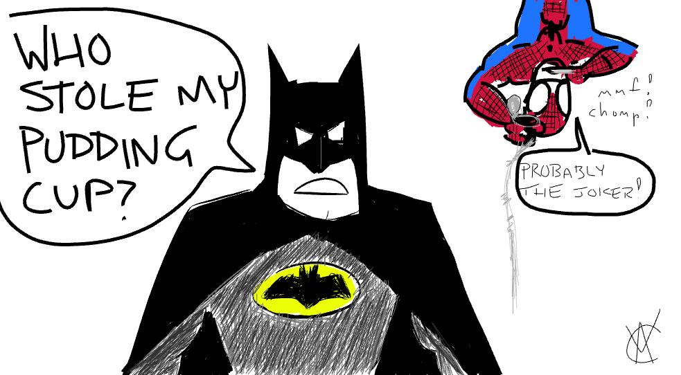 Batman Vs Spider Man Doodlely